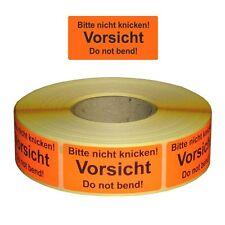 """Versandetiketten / Warnetiketten """"Bitte nicht knicken!..."""" auf Rolle - 30 x 62"""