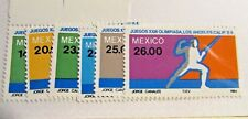 MEXICO Sc #1351 1352 1353 1354 1355 1356  ** MNH, Olympic stamps, Fine +