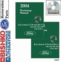 2004 Ford Excursion F-Super Duty F250-F550 Shop Service Repair Manual CD Engine