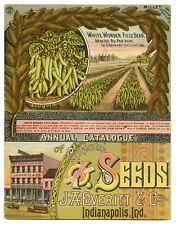 1890 Antique Victorian OK ANNUAL SEED CATALOG, Farming, Garden, Flowers