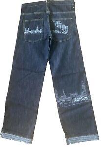 Time is Money baggy classic retro jeans, hip hop urban mens & boys London pants