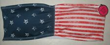 ICY HOT LINGERIE - NEW - SMALL -  AMERICAN FLAG MOTIF-  PADDED BANDEAU BRA TOP