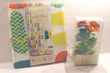 Sonoma Flip Flop Beach Sandals Fabric Shower Curtain Hooks NEW