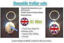 Gran Bretagna, Union Jack / Bandiera-Riutilizzabile £ 1 SHOPPING TROLLEY TOKEN-Grande Regalo