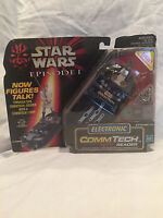 Star Wars Episode 1 Electronic Commtech Reader Works with Action Figures NOC*