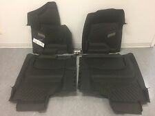2014-2017 SIERRA CREW CAB FULL COVERAGE FRONT AND REAR FLOOR LINERS (BLACK)