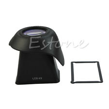 """2.8 X 3"""" V2 LCD Magnifer Extender Hood DSLR Viewfinder Eyecups For Canon Nikon"""