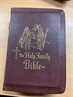 1959 Holy Familia Edición De Catholic Biblia Jesús Rojo Texto Cuero Libro ( Xx)