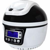 Syntrox Turbo-Heißluftfritteuse Heißluftgarer Airfryer Robot de Cuisine Noir