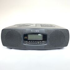 Sony Icf-Cd820 Am/Fm Compact Disc Player with Clock Radio - Tested - Works