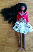Vintage Hasbro 1987 Barbie Fashion Doll Long Black Curvy Hair African Maxie rare
