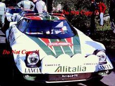 Sandro Munari Alitalia Lancia Stratos HF Rally San Remo 1976 fotografía 1