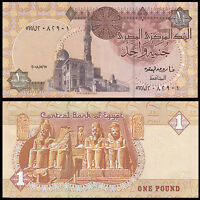 Egypt 1 Pound, random year, P-50, paper note, UNC