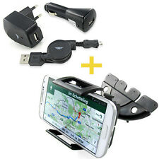 CD Schlitz KFZ HALTER-UNG & 3in1 LadeSet  Samsung Galaxy S Advance I9070P Duos