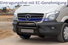 Frontbügel Bullenfänger Frontschutzbügel Rammschutz Mercedes Sprinter Schwarz