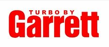 Turbo by Garrett - Car Performance Decal Custom Sticker RED No Background