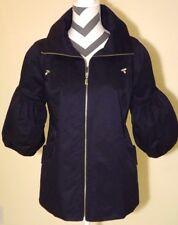 NWT Marc Bouwer QVC-Womens All Weather Jacket Navy 3/4 Puff sleeve MED*FREE SHIP