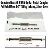 """Neutrik REAN Guitar Pedal Coupler 1/4"""" Effect Stomp 6.3 Patch Cord Cable NEW"""