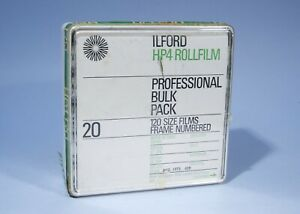 ILFORD HP4 20 Professional Bulk Pack 120 Roll Film * Expired Aug 1973 * Unopened