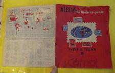 ANCIEN ALBUM D'IMPRESSIONS NOIR & BLANC DE TIMBRES POSTE PUBLICITAIRE  CEMOI