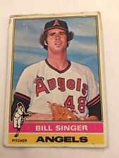 1976 Topps #411 - Bill Singer - California (Anaheim) Angels