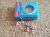 Vintage Polly Pocket Mattel 2000 Trendy Tronics Disc Player Playset