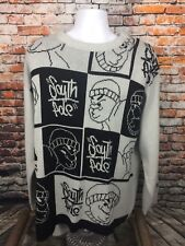 South Pole Men's White and Black Homies Urban Hip Hop Sweater Large