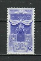 S21604) Italy 1953 MNH New Merit Labour 1v