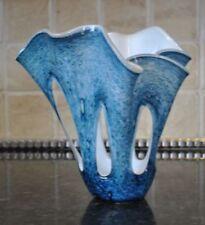 Sculpture Blue Hand Blown Art Glass