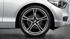 "Alloy Wheel Set F20 1 Series Double Spoke 361 Ferric Grey 19"" 36112294004"