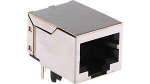 Connettore plug ethernet rete  presa femmina   RJ-45 8P8C 8 pin 90°