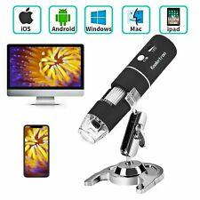 1000X WIFI 8 LED Digitale Microscopio Lente Ingrandimento CAM + supporto per iPhone iOS Android