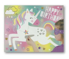 Unicorn Birthday Party Game - Pin the horn on the Unicorn, up to 16 players