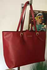 CYNTHIA ROWLEY True Red Large Saffiano Leather Tote Shopper Leisure Bag GREAT