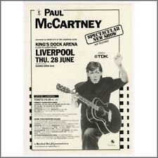 Paul McCartney 1990 Liverpool King's Dock Concert Handbill (UK)