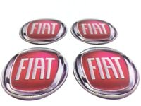 Stickers silicone centre jante moyeu de roue pour FIAT 4 x 60mm