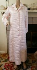 Vtg Christian Dior Size S Satin Lace Quilted Pink Womens Robe Nightgown 2 Pc Set