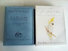 1990 $10 BIRDS OF AUSTRALIA COCKATOO SILVER PROOF COIN
