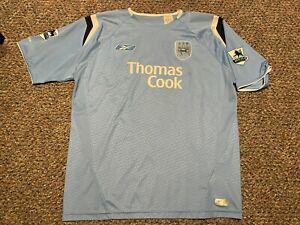 MANCHESTER CITY vintage 2004 REYNA Reebok soccer shirt jersey football Adult Lge