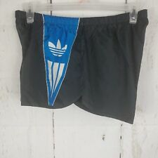 Vintage Adidas Trefoil Men's Split Lined Running Shorts XL Black Logo USA