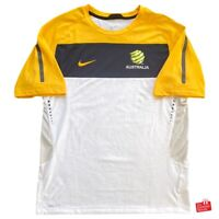Nike Australia Socceroos 2010/11 Player Issue Training T-Shirt. Size L, Exc Cond