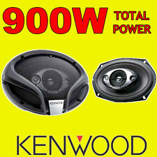 "KENWOOD 6""x9"" 6x9 4-way car rear deck oval shelf speakers, pair 900W Total Power"