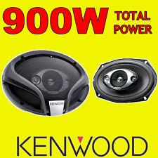 """Kenwood De 6 """"x9"""" 6x9 4 Vías coche trasera cubierta Oval Estante Parlantes, Par 900w Potencia Total"""