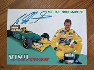 Michael Schumacher Autogramm - signiertes Foto aus der Zeit bei Benetton (91-95)