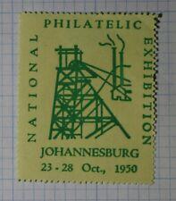 Natl Philatelic Exhibitionn 1950 Johannesburg South Africa Souvenir Ad Label