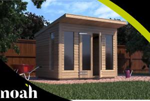14x10 'Roseberry Summerhouse' Heavy Duty Wooden Garden Shed/Summerhouse