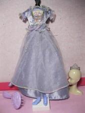 Barbie Doll 2000 Easy to Dress Princess Lavender Purple long gown Dress, Tiara