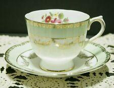 Collingwoods Gilt Bone China Tea Cup & Saucer SET Hand Painted 1937-57 MINT!