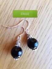 ER32 handmade gemstone agate drop earrings