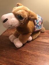 """Vintage Russ Oasis Camel Plush Stuffed Toy 16"""" With Blanket On Back"""